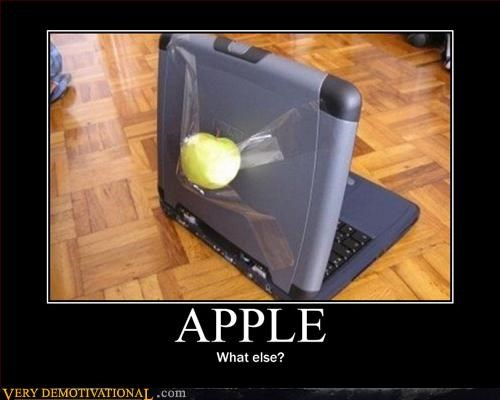 apple demotivational hack idiots mac Pure Awesome - 3216009728