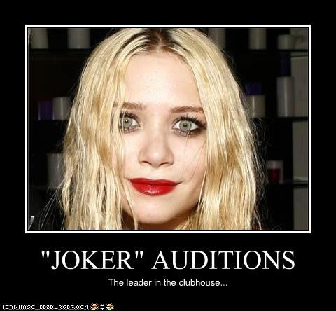 """""""JOKER"""" AUDITIONS The leader in the clubhouse..."""