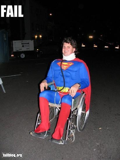 awesome costume g rated superman wheelchair - 3216800512