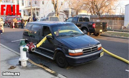 broken cars fire hydrant g rated hose parking windows - 3216820992