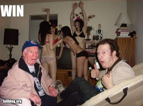 bikini,old man,Party,surprise,women,wtf