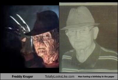 birthday,freddy krueger,horror,newspaper,old man