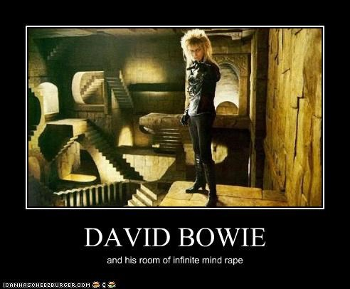 DAVID BOWIE and his room of infinite mind rape