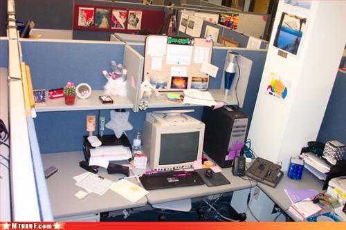 awesome co-workers not boredom clever creativity in the workplace cubicle prank dickhead co-workers dickheads ergonomics mess prank pwned screw you sneaky upside down wiseass - 3219592704