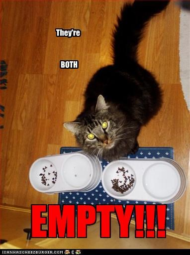 They're BOTH EMPTY!!!