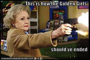 betty white,guns,The Golden Girls,TV