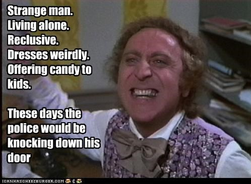 candy creepy gene wilder kids movies pedobear weird Willy Wonka