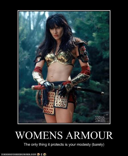 WOMENS ARMOUR The only thing it protects is your modesty (barely)