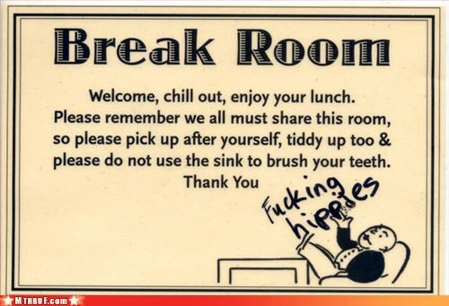 back talk basic instructions break room breakroom drama cubicle prank dental hygeine dickhead co-workers dickheads eff off graffiti hippies mess office kitchen official sign passive aggressive sass screw you signage wiseass - 3222905344