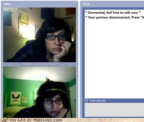 Chat Roulette,hipsters,mirrored