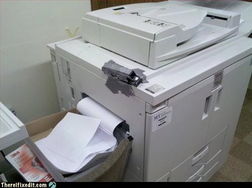copier,duct tape,office upkeep,printer,stapler