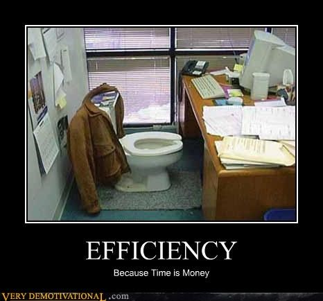 efficiency toilet money
