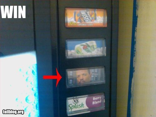 drink,iced tea,ice t,rapper,vending machine,win