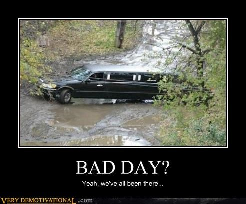 limo,woods,wtf,bad day