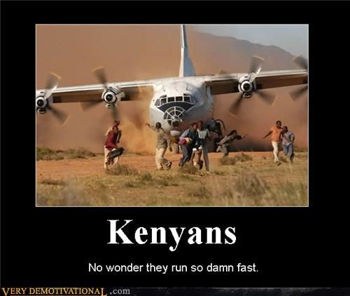 africa airplanes demotivational hilarious Kenyans Pure Awesome running Terrifying - 3225541632