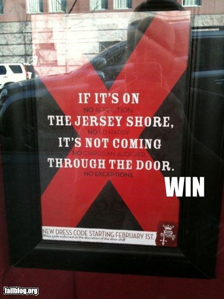 jersey shore,sign,style,television,win
