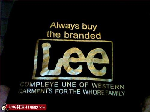 brand name clothing family garments g rated lee western whore