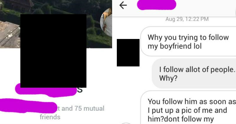 Girl freaks out on other girl when she finds out she followed her boyfriend on Instagram.