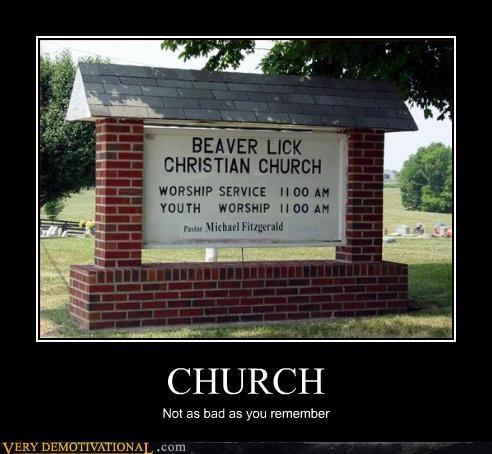beavers church demotivational hilarious memories oral sex the past - 3228341504