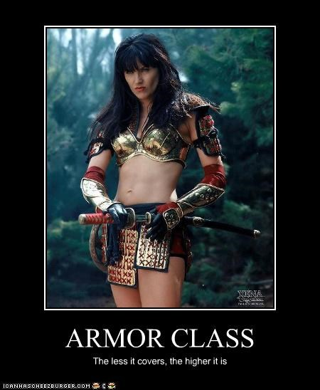 ARMOR CLASS The less it covers, the higher it is