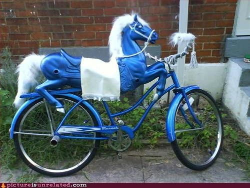 bike blue hybrid pony wtf