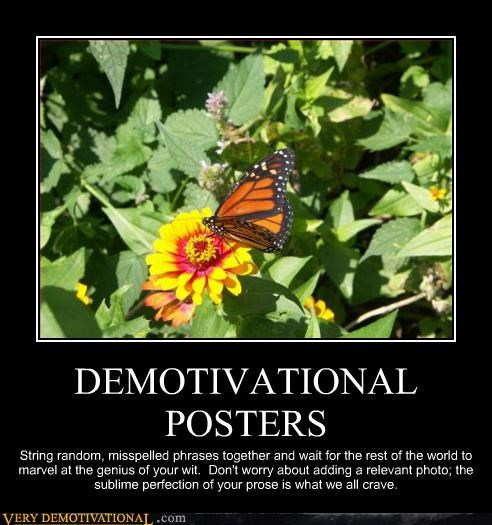 butterfly,idiots,demotivational posters