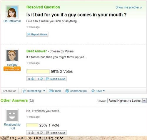 bad mojo sexy time Yahoo Answer Fails - 3235109888