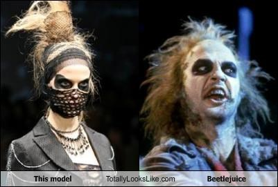 This model Totally Looks Like Beetlejuice