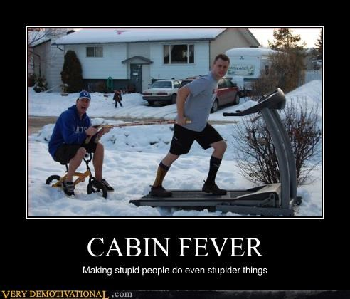 cabin fever winter stupid