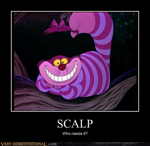 alice in wonderland,cheshire cat,scalp