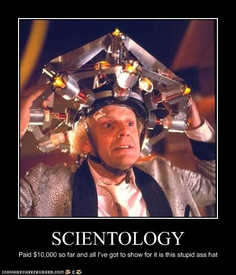 back to the future christopher lloyd crazy hats scientology - 3238263808