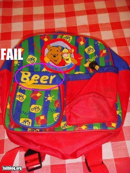 backpack,beer,cartoons,failboat,pooh