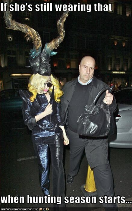 clothing fashion hats hunting lady gaga