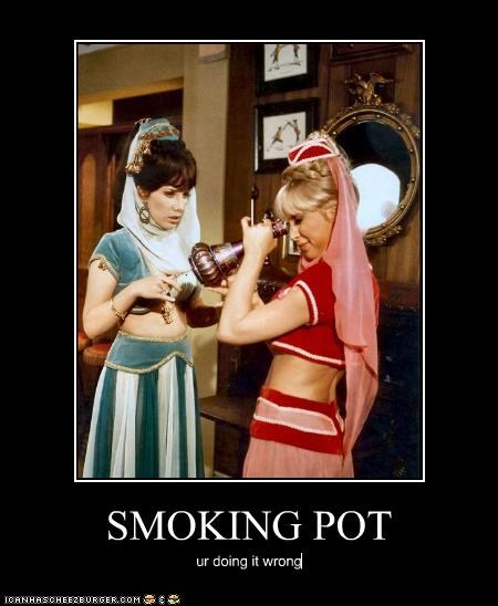 doing it wrong I Dream of Jeannie pot smoking - 3242237184