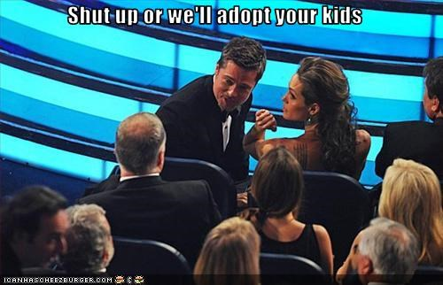 adoption,Angelina Jolie,award shows,brad pitt,brangelina