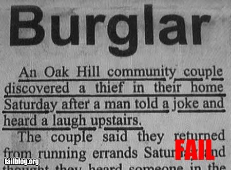 article burglar g rated joke laugh Police Blotter - 3242901248