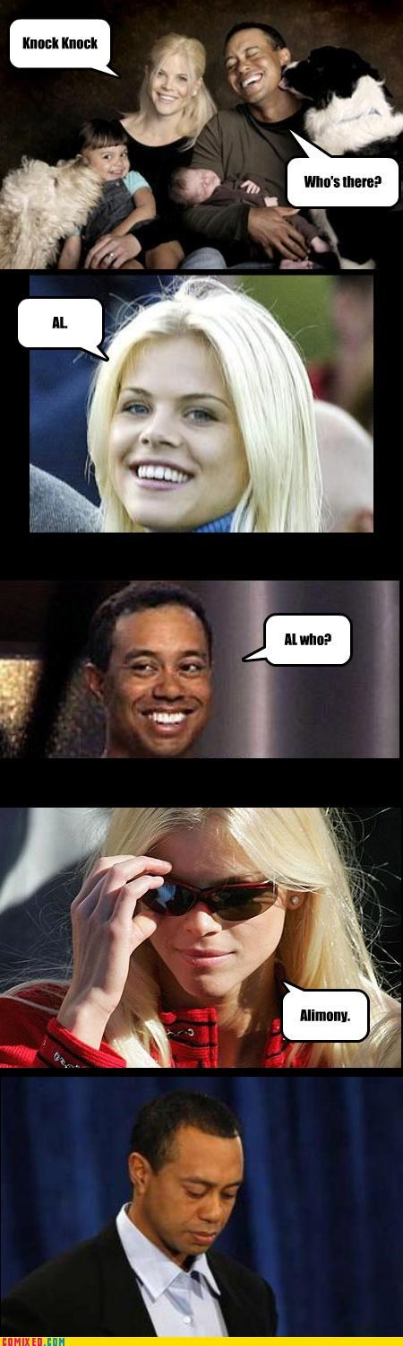adultery,al-who-celebutard,alimony,celebutard,Tiger Woods