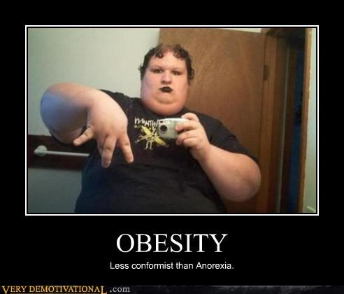 conformist demotivational emo goth hilarious nonconformist obesity Sad - 3244687360