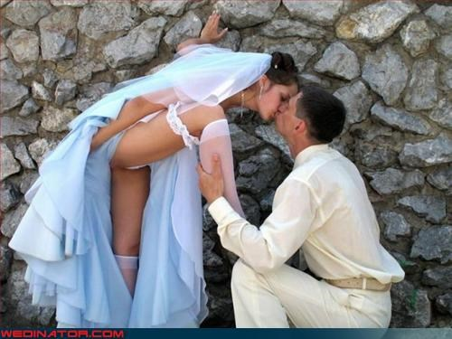 Upskirt wedding photos