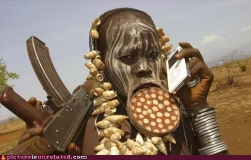 africa body mod guns ipod wtf - 3245844736