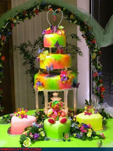 Dreamcake eww girly wedding cake mariah carey rainbow stuffed animal tacky were-in-love Wedding Themes wtf