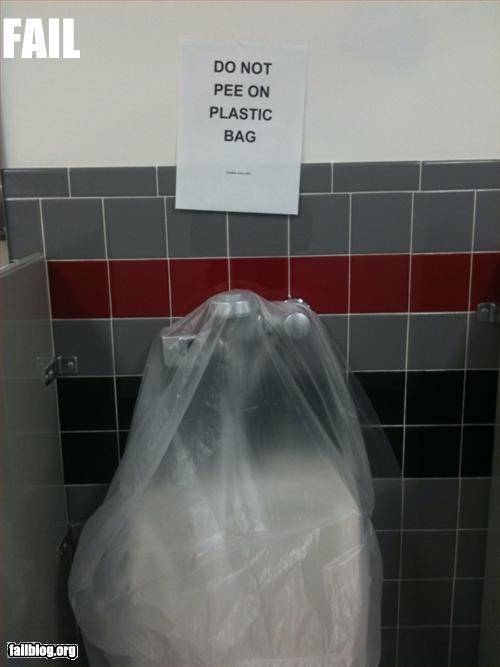 bag,bathroom,do not,g rated,pee,plastic,urinal