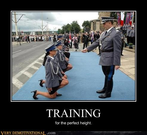 TRAINING for the perfect height.