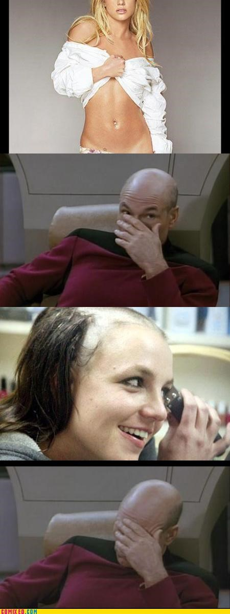Brittney celebutard celebutards love oh hai picard shaved heads Star Trek - 3249185280