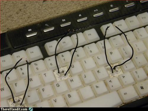 computer,hot wire,keyboard,mod,wiring
