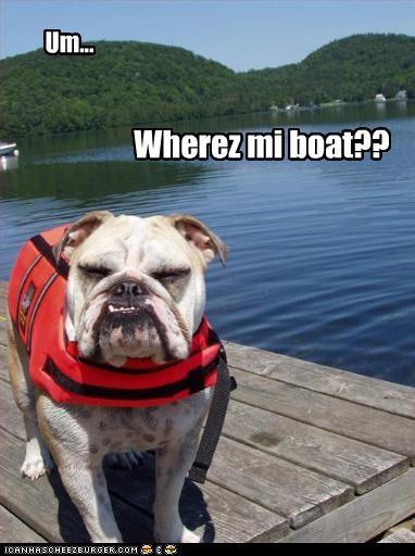 Um... Wherez mi boat??