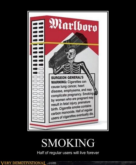demotivational for non smokers immortality marlboro Pure Awesome smoking - 3252326656