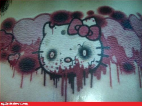 bloodnguts Cats hello kitty zombie