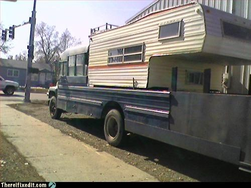 camper,long bus,not street legal,school bus
