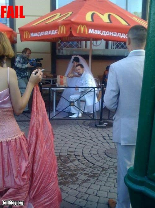 g rated McDonald's reception wedding - 3253227520